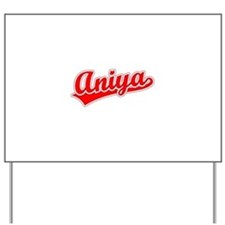 Retro Aniya (Red) Yard Sign