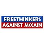 Freethinkers Against McCain bumper sticker