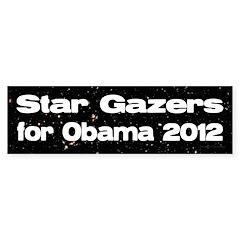 Skygazers for Obama 2012 bumper sticker