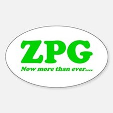 ZPG Oval Decal