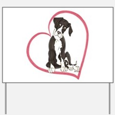 NMtl Heart Pup Yard Sign