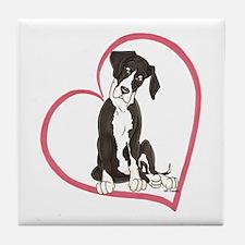 NMtl Heart Pup Tile Coaster