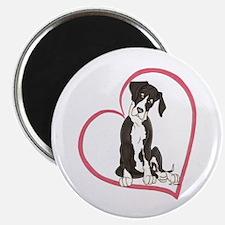 NMtl Heart Pup Magnet