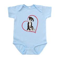 NMtl Heart Pup Infant Bodysuit