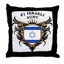 Number One Israeli Aunt Throw Pillow