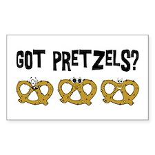 Got Pretzels Rectangle Sticker 10 pk)