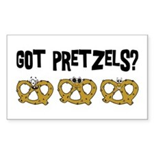 Got Pretzels Rectangle Decal