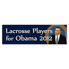 Lacrosse Players for Obama 2012 bumper sticker