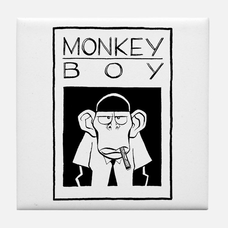 Cute Monkey boy Tile Coaster