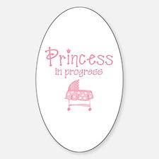 Princess In Progress Oval Decal