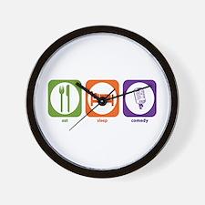 Eat Sleep Comedy Wall Clock