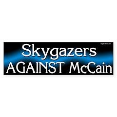 Skygazers Against McCain 2008 bumper sticker