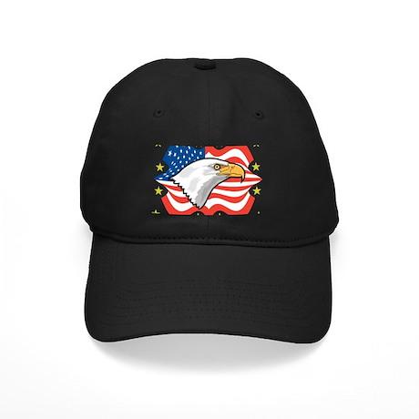 Bald Eagle Flag Black Cap