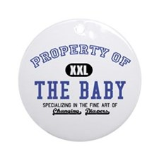 Property of the Baby Ornament (Round)