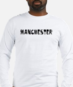 Manchester Faded (Black) Long Sleeve T-Shirt