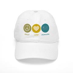 Peace Love Dominoes Baseball Cap