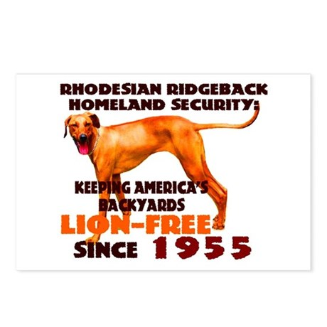 Ridgeback Security Postcards (Package of 8)