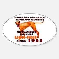 Ridgeback Security Oval Decal