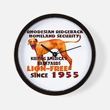 Ridgeback Security Wall Clock