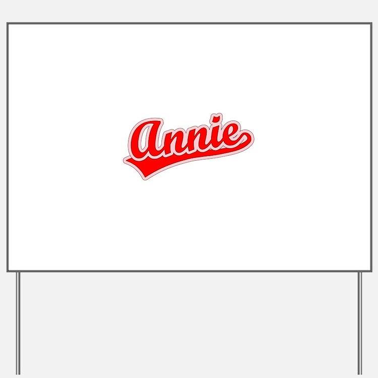Retro Annie (Red) Yard Sign