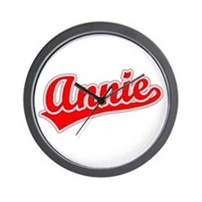 Retro Annie (Red) Wall Clock