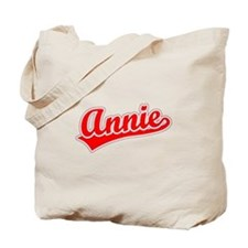 Retro Annie (Red) Tote Bag