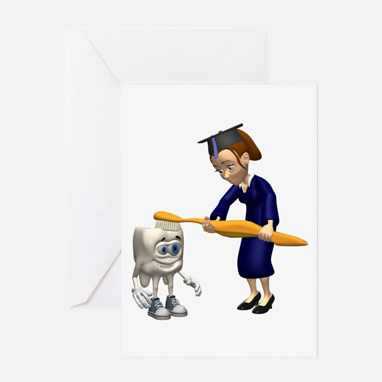 Dental Hygiene Graduation Greeting Card
