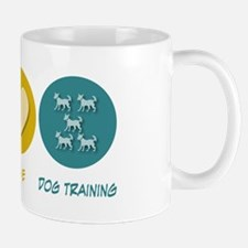 Peace Love Dog Training Mug