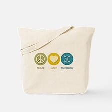 Peace Love Dog Training Tote Bag