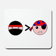Ninjas Greater Than Pirates Mousepad