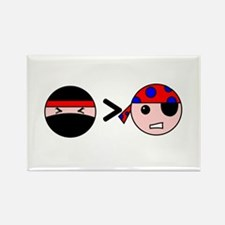 Ninjas Greater Than Pirates Rectangle Magnet