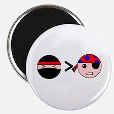 Ninjas Greater Than Pirates Magnet