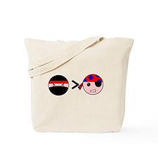 Ninjas Greater Than Pirates Tote Bag