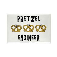 Pretzel Engineer Rectangle Magnet (10 pack)