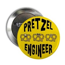 "Pretzel Engineer 2.25"" Button"