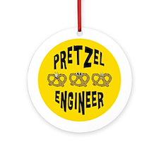 Pretzel Engineer Ornament (Round)