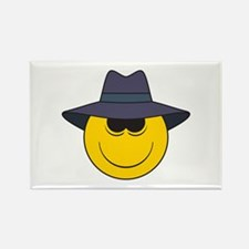 Private Eye/Spy Smiley Face Rectangle Magnet