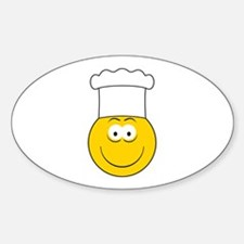 Chef/Cook Smiley Face Oval Decal
