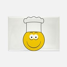 Chef/Cook Smiley Face Rectangle Magnet
