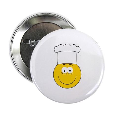 """Chef/Cook Smiley Face 2.25"""" Button"""