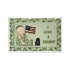 Love A Soldier Rectangle Magnet