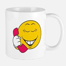Gossip/Phone Chatter Smiley Face Mug