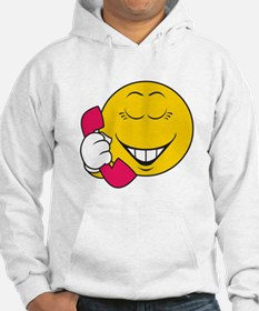 Gossip/Phone Chatter Smiley Face Hoodie
