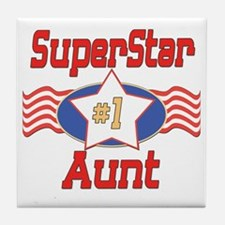 Superstar Aunt Tile Coaster