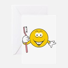 Dentist/Toothbrush Smiley Face Greeting Card