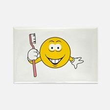 Dentist/Toothbrush Smiley Face Rectangle Magnet