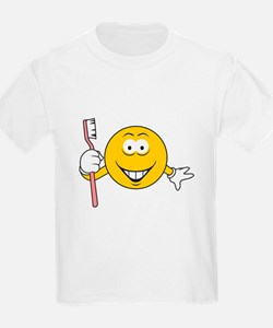 Dentist/Toothbrush Smiley Face T-Shirt