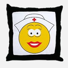 Nurse Smiley Face Throw Pillow