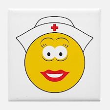 Nurse Smiley Face Tile Coaster