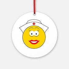 Nurse Smiley Face Ornament (Round)